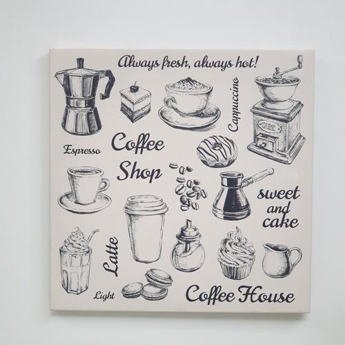 NICE รูปภาพพิมพ์ผ้าใบ Coffee Shop 40x40ซม. (ก.xส.) (coffee House) C40x40-4