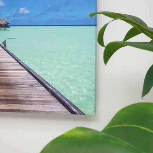 NICE รูปภาพพิมพ์ผ้าใบ View-Sea ขนาด  70x50 ซม. (ก.xส.) (สะพานยื่นในทะเล) C7050-12