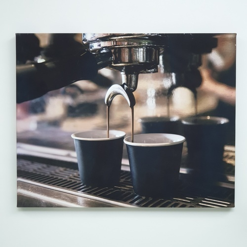 NICE รูปภาพพิมพ์ผ้าใบ Coffee Shop ขนาด 50x40ซม. (ก.xส.) (ชงกาแฟจากเครื่อง) C5040-3