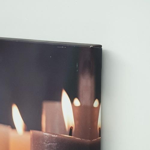 NICE รูปภาพพิมพ์ผ้าใบ Spa ขนาด 50x40ซม. (ก.xส.) ( เทียน Spa) C5040-6