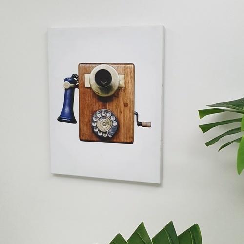 NICE รูปภาพพิมพ์ผ้าใบ LoftVintage ขนาด 40x50ซม. (ก.xส.) (โทรศัพท์ไม้ วินเทรด) C4050-3