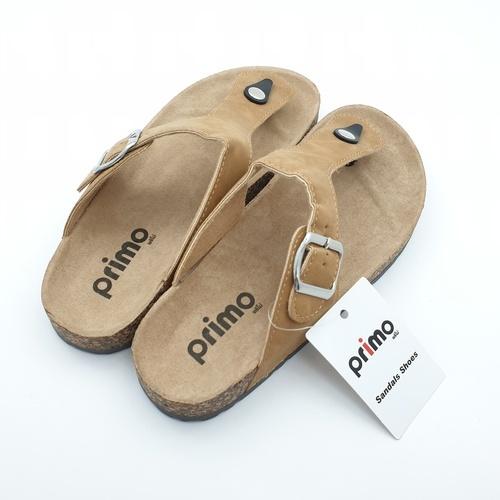 Primo Primo รองเท้าแตะคีบแฟชั่น LY1513-37BR สีน้ำตาล  ขาว