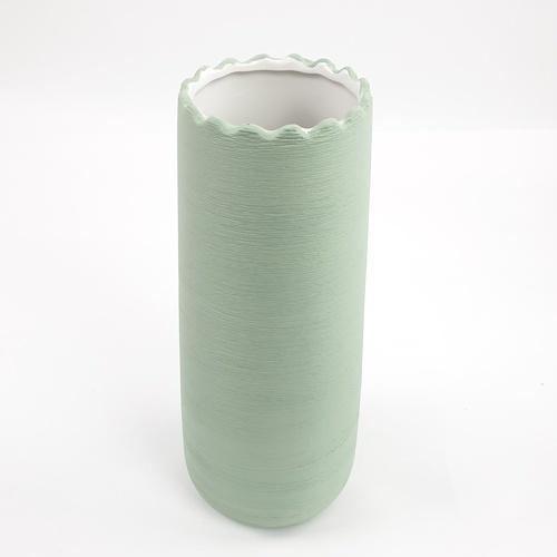 COZY แจกันตกแต่ง Size L   QM042  สีเขียว