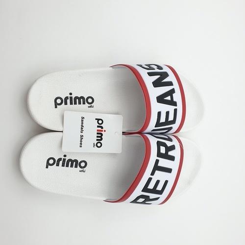 Primo รองเท้าแตะลาย Retro LY1514-39WH สีขาว