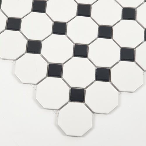Marbella โมเสค 30x30x0.6cm โอดาฟ C0304TC ขาว-ดำ