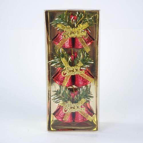 COZY กระดิ่งตกแต่งต้นคริสต์มาส 6 ชิ้น/แพ็ค ขนาด3.5x6.5x5.5ซม.  HY12-170R สีขาว