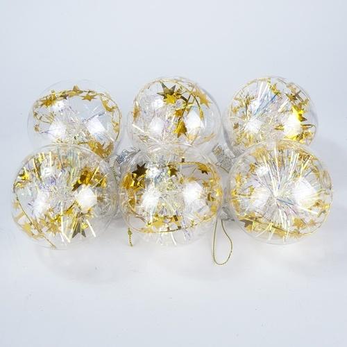 COZY ลูกบอลประดับต้นคริสต์มาส 6ชิ้น/แพ็ค 8x8x9ซม. 196F-019