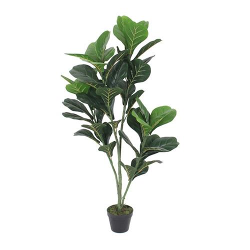 Tree O ต้นไทรใบสักประดิษฐ์สูง120ซม. 48LVS พร้อมกระถาง JWS2781 สีเขียว