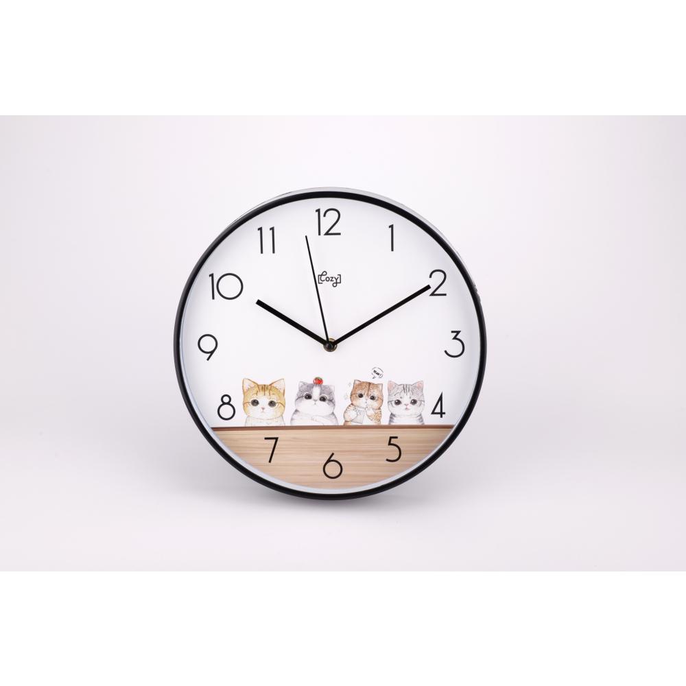 COZY นาฬิกาแขวนผนัง 30 ซม. 2WL-A15 แมวน้อย