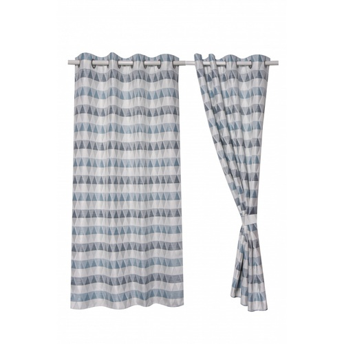 Davinci  ผ้าม่านประตู ขนาด 145x240ซม.   A72181RR สีฟ้า-เทา