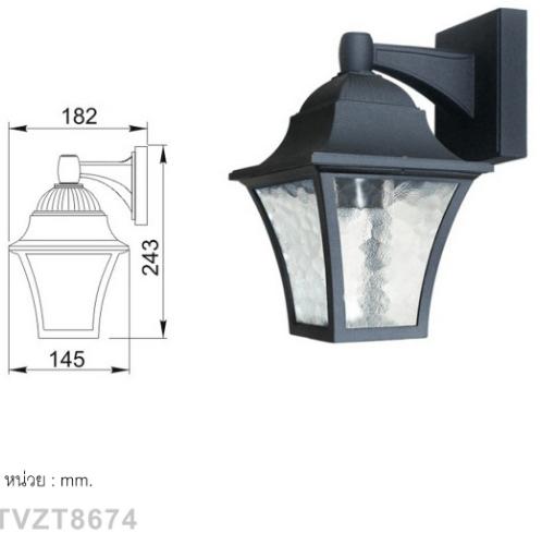 V.E.G โคมไฟผนัง TVZT8674 สีดำ