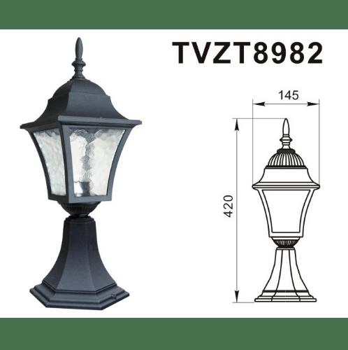 V.E.G โคมไฟหัวเสา  TVZT8982 สีดำ