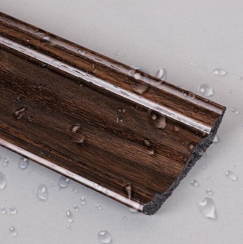 GREAT WOOD ไม้บัวบน PS รุ่น JC335-5 70.8x14.2x2900mm. GREATWOOD JC335-5 สีน้ำตาลเข้ม