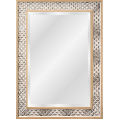 NICE  กระจกมีกรอบทรงเหลี่ยม (PS) ขนาด40x60cm วินตัน X4126B691 สีไม้