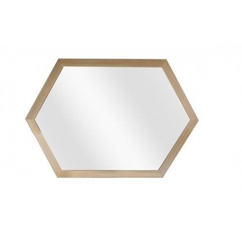 NICE กระจกมีกรอบหกเหลี่ยม (PS) ขนาด 40x60cm  ลอร่า X013S1Q  สีทอง
