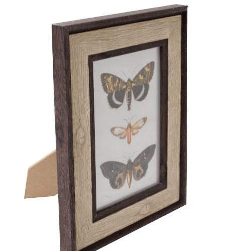 COZY กรอบรูป ขนาด 6x8นิ้ว ลายไม้ สี Wood with dark edge  ไม้ธรรมชาติ
