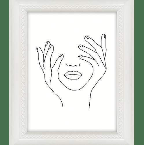 COZY กรอบรูป  ขนาด 6x8นิ้ว โมเดิร์น  สีขาว