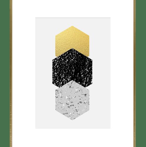 COZY กรอบรูป  ขนาด A3 เมทัลลิค สีทอง