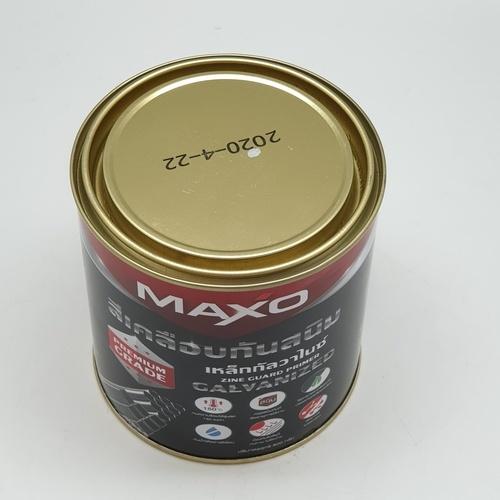 MAXO สีเคลือบกันสนิมเหล็กกัลวาไนซ์  ขนาด 1/4 กล.