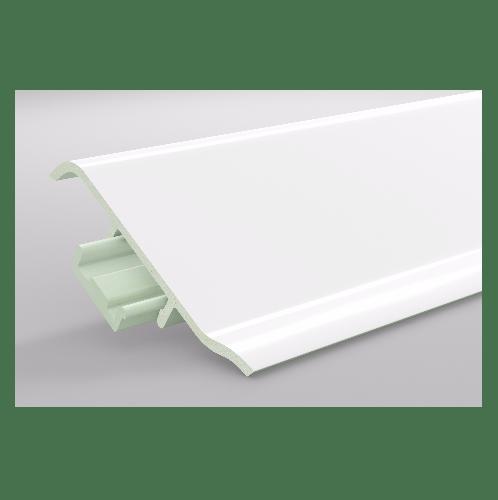 GREAT WOOD ไม้บัวล่าง PVC รุ่น FBM-1001D 100x21x2700mm. WH05 GREATWOOD  คละสี
