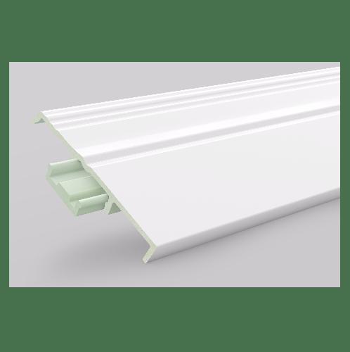 GREAT WOOD ไม้บัวล่าง PVC รุ่น FBM-1001A 100x14x2700mm. WH05 GREATWOOD  คละสี