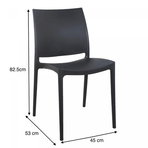 Pulito  เก้าอี้พลาสติก  ขนาด 53x45x82.5ซม. สีเทาเข้ม PP-686-GR12