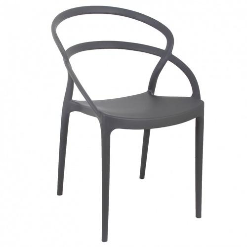 Pulito เก้าอี้พลาสติก  ขนาด 57x52x82.5ซม.   PP-737A-GR04 สีเทา