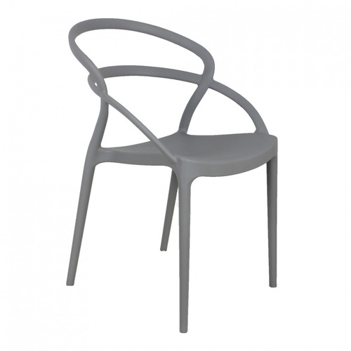 Pulito เก้าอี้พลาสติก  ขนาด 57x52x82.5ซม.สีเทาอ่อน PP-737A-GR01