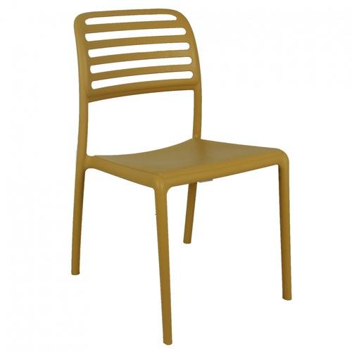 Pulito  เก้าอี้พลาสติก  ขนาด 57x48.7x86ซม.  PP-695-2-Y03 สีเหลือง