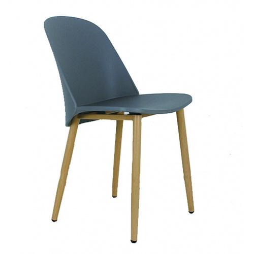 Pulito เก้าอี้พลาสติกขาเหล็ก   ขนาด 55.5x46x80.5ซม. PP-699B-GR16 สีเทา