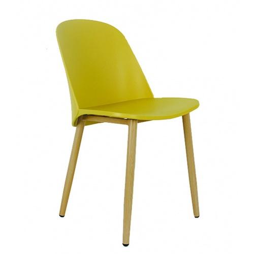 Pulito เก้าอี้พลาสติกขาเหล็ก ขนาด 55.5x46x80.5ซม.  PP-699B--Y03 สีเหลือง