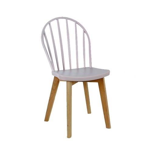 Pulito เก้าอี้พลาสติกขาไม้ ขนาด 52.5x47x91.5ซม. PP-698A-PK02 สีชมพู