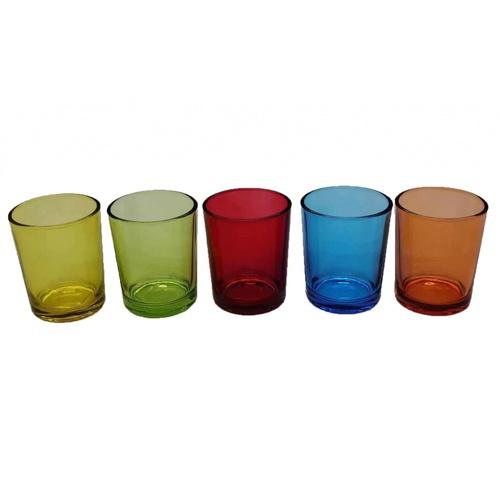 COZY แก้วใส่เทียน ขนาด 5.5x6.5 ซม. Rainbow
