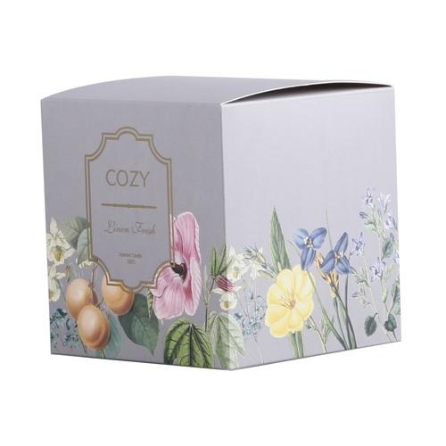 COZY เทียนหอม ขนาด  10x11 ซม.  Linen Fresh-GR สีเทา