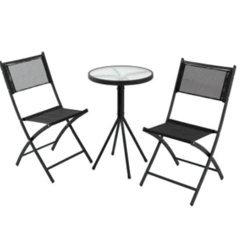 Tree O ชุดโต๊ะเก้าอี้สนาม KFSET-053 สีเทา KFSET-053