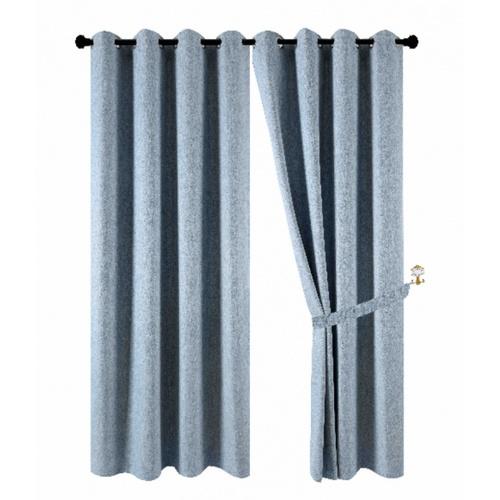 Davinci  ผ้าม่านหน้าต่าง ขนาด150x160ซม.   Preto สีฟ้า