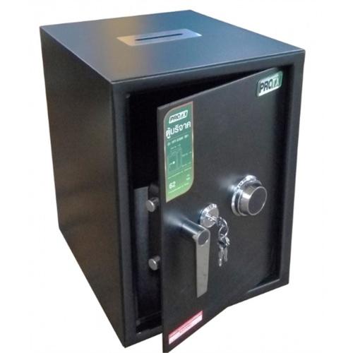 Protx ตู้บริจาค ขนาด W50.5xH67xD48 cm. HFT-670M สีดำ