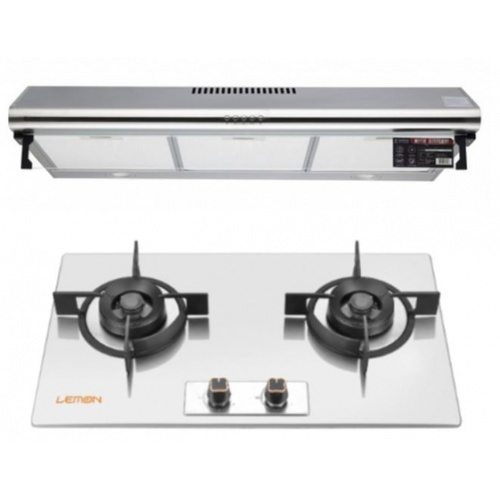 Koch Kitchen  ชุดเซ็็ทเครื่องดูดควันแบบมาตราฐาน COQUINA02+ LEMON เตาแก๊สแบบฝังหน้าสเตนเลส 2 หัวเตา GC(N/L)--SS209  K-TS5-90+ GC(N/L)-SS209