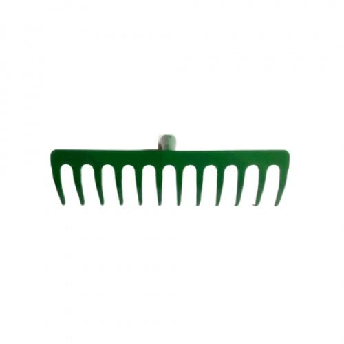 คราดเหล็ก 12ฟัน ไม่มีด้าม(ฟันหนา) R106 สีเขียว