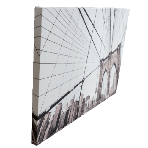 NICE รูปภาพพิมพ์ผ้าใบ City  ขนาด  70x50 ซม. (ก.xส.) (สะพานในเมือง) C7050-18