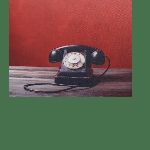 NICE รูปภาพพิมพ์ผ้าใบ LoftVintage ขนาด 50x40ซม. (ก.xส.) (โทรศัพท์ วินเทรดสีดำ) C5040-7