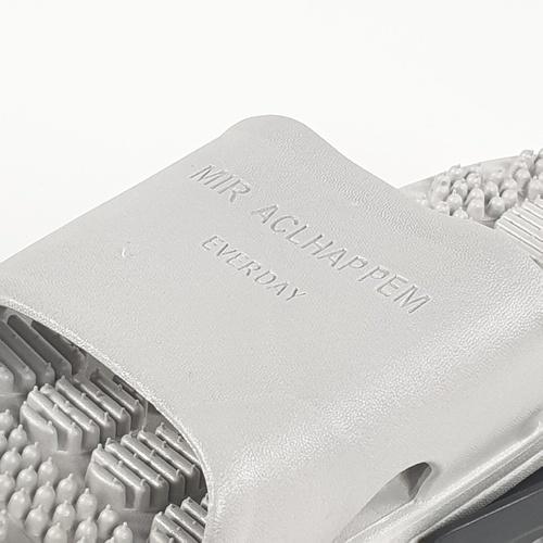 PRIMO  รองเท้าแตะ  PVC มีปุ่มนวด  เบอร์ 38-39 ZL013-GR389 สีเทา