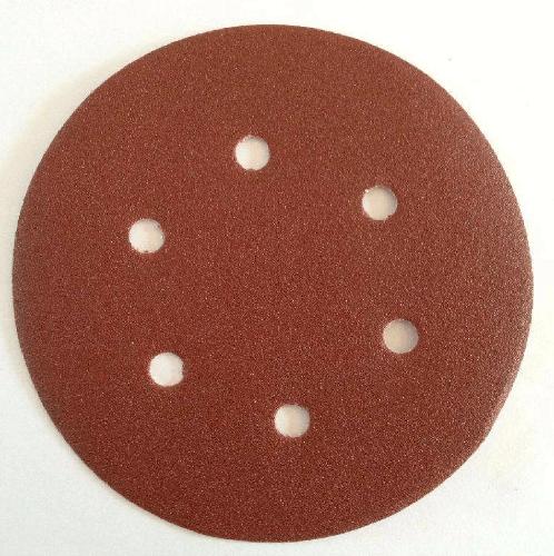 TUF กระดาษหนามเตยทรายกลมมีรู 6นิ้ว เบอร์ 100 (แพ๊ค 5) CS2506100 6