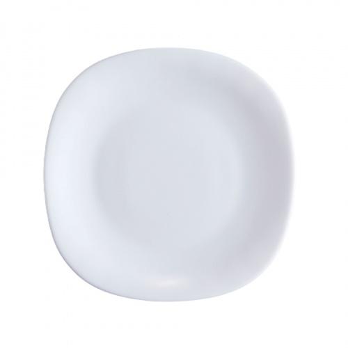 ADAMAS จานโอปอลทรงเหลี่ยม  ขนาด 8 นิ้ว FQP80 สีขาว