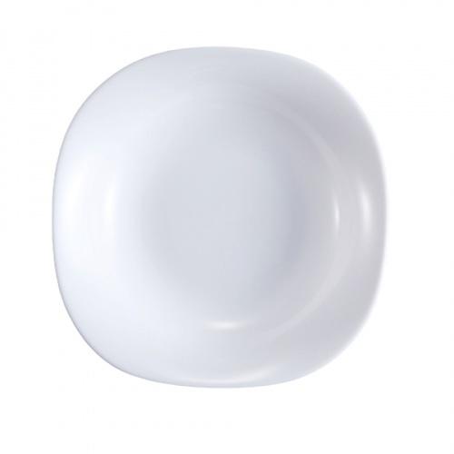 ADAMAS จานก้นลึกโอปอลทรงเหลี่ยม ขนาด 9 นิ้ว FSP90 FSP90 สีขาว