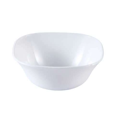 ADAMAS ถ้วยโอปอลทรงเหลี่ยม 6 นิ้ว  FXW60 สีขาว