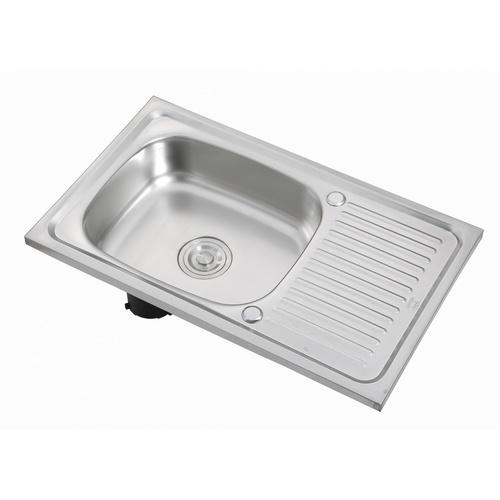 CROWN อ่างล้างจาน 1 หลุมมีที่พักขอบยก ขนาด 75x45x15 ซม. WLS7545-NA