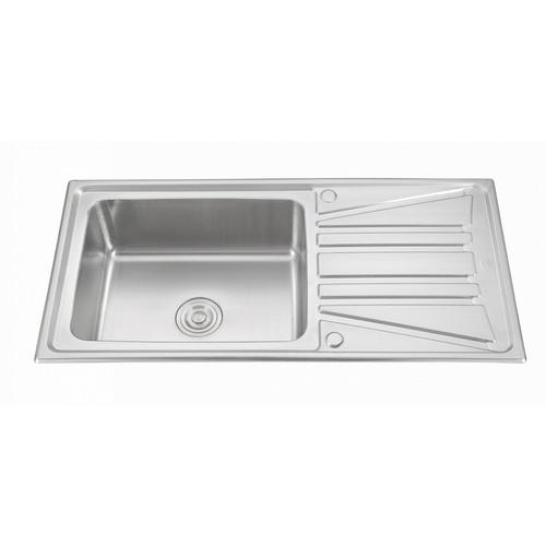 CROWN อ่างล้างจาน 1 หลุมมีที่พัก ขนาด 100x50x22 ซม. WLA10050D