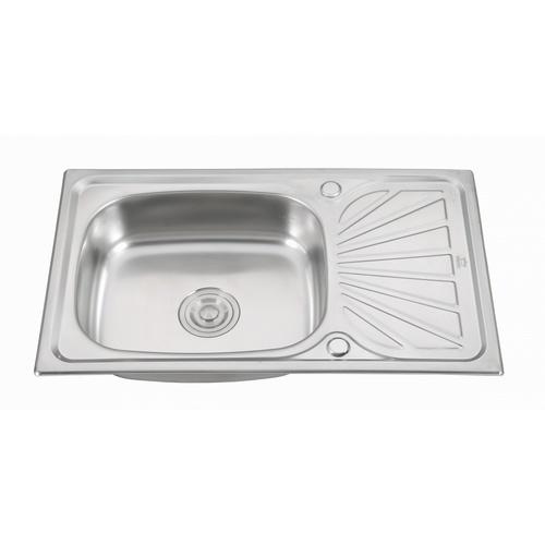 CROWN  อ่างล้างจาน 1 หลุมมีที่พัก ขนาด 75x450x15 ซม. WLS7545B