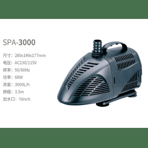 BOYU ปั้มน้ำตู้ปลา SPA-3000 สีดำ